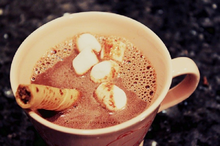 11. ...with a delicious cup of hot chocolate.