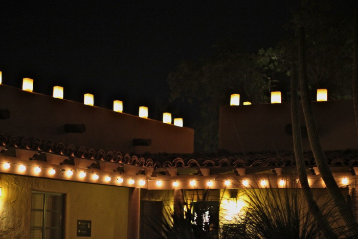 17. In some places, we also see luminarias in place of twinkle lights, especially along neighborhood streets.
