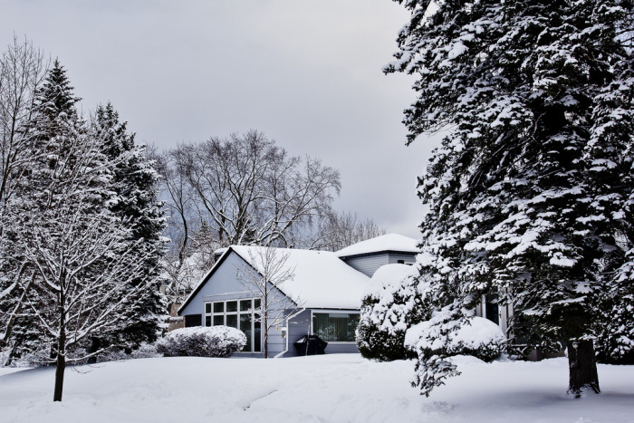 1. There's nothing as cozy as being at home while the snow falls outside.
