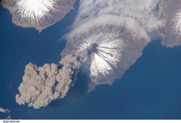 3) Active volcanos.