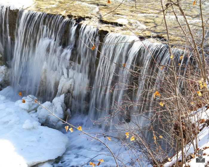 13. Here is an incredible picture of the Anderson Falls starting to thaw out!
