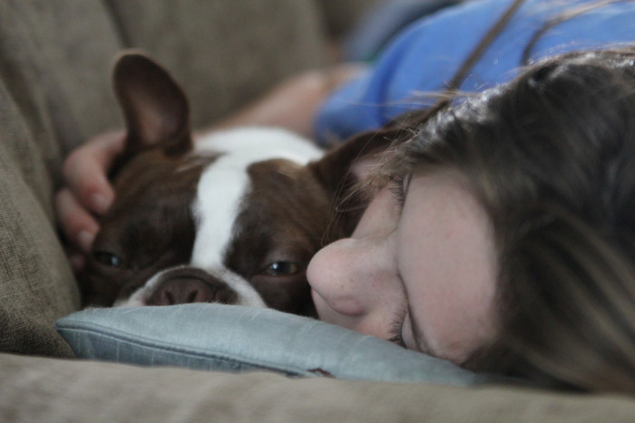 10. Snuggling up close to those you love in the warmth and comfort of your own home.