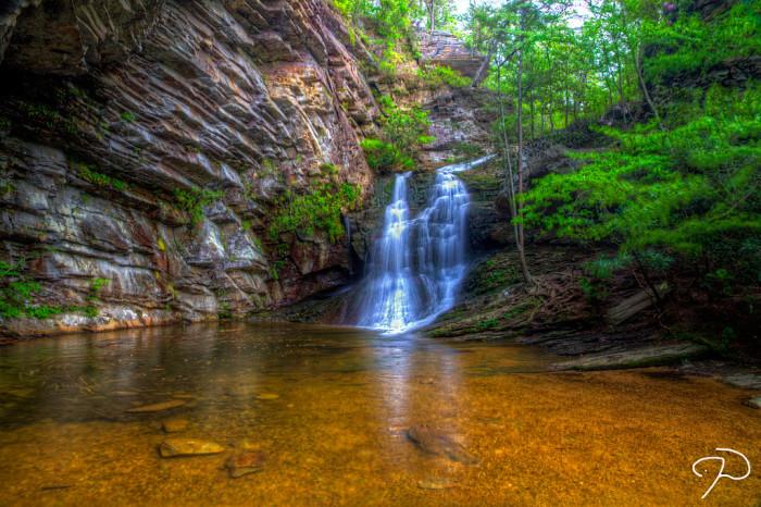 16. A beautiful hidden waterfall.