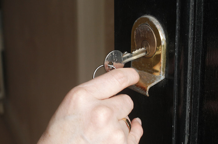 5. You could always leave your door unlocked.