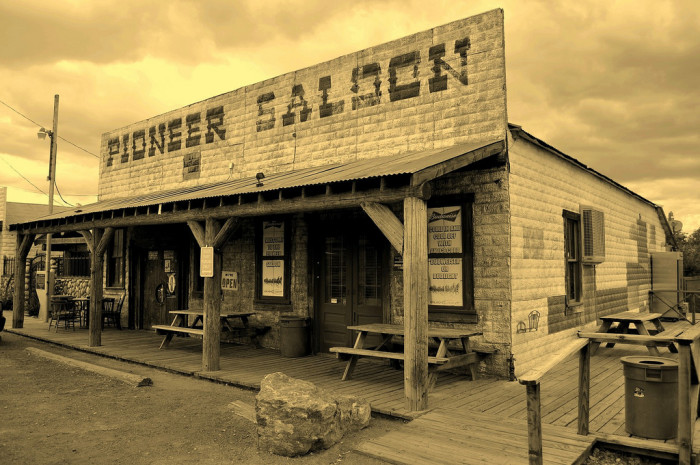 3. The old mining town of Goodsprings.