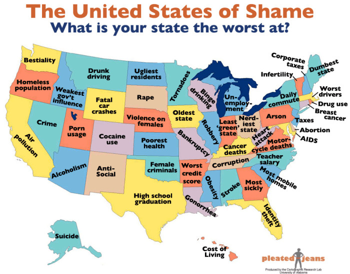 Maps Of Indiana That Are Just Too Perfect And Hilarious - Indiana map of usa
