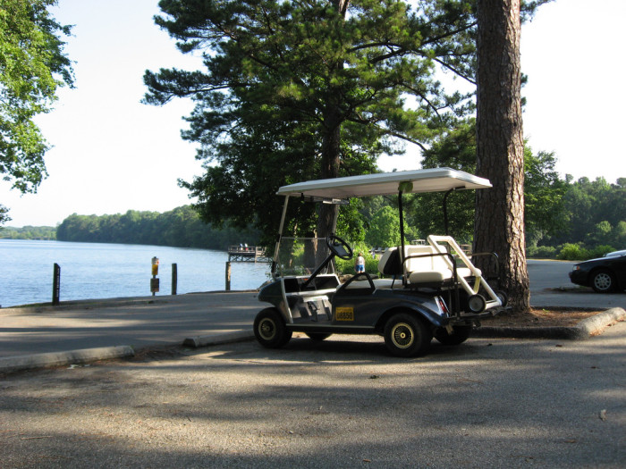 9. Peachtree City in Georgia has a golf cart path infrastructure over the whole town, where the majority of the population owns golf carts and the kids grow up driving them instead of cars.