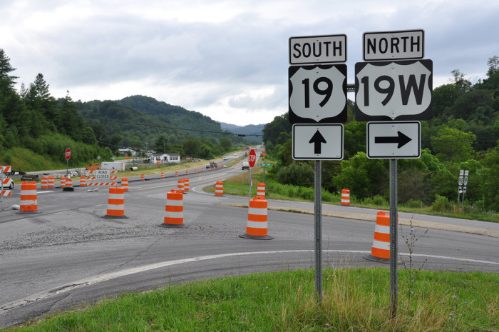 4. Constant highway construction.