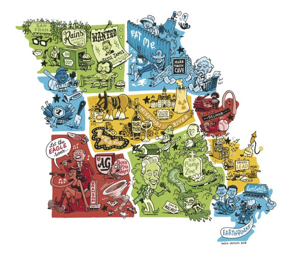 6. The Nine Distinct States That Make Up Missouri