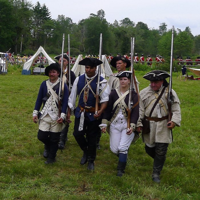 3. We love our state and our country so much that we have reenactments to show others how we helped win our freedom.
