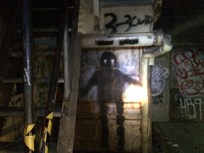 """""""There were these black figures with white eye painted around corners all over the place and was pretty freaky at first."""""""