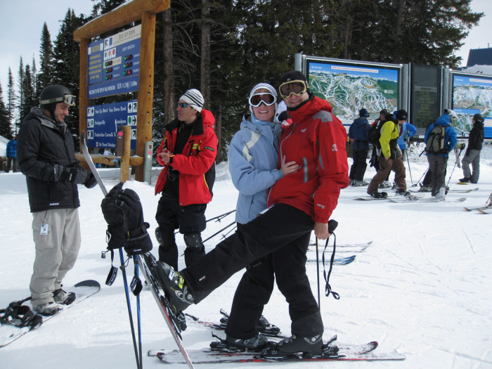 2. It's by far the most wonderful time of the year with the epic skiing...