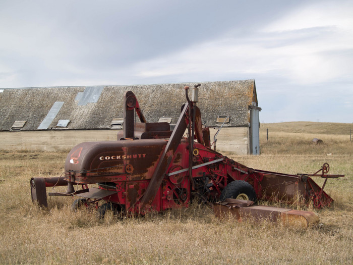 And some farms with equipment remain to this day.