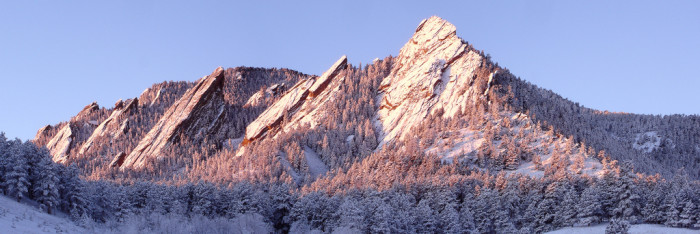 1. Flatirons dipped in white