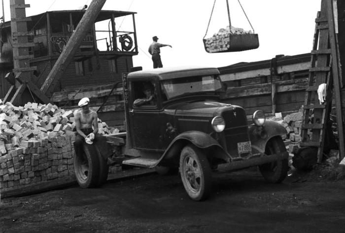 12. Hard work at Pink Granite Quarry in Vinalhaven (1936)