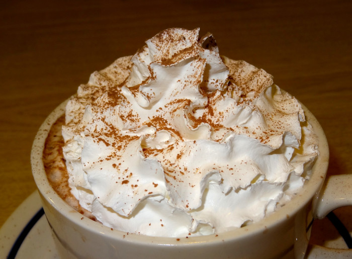 10. Hot chocolate. With whipped cream.