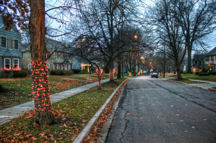 4. ...and your street will be decked out in festive colors!