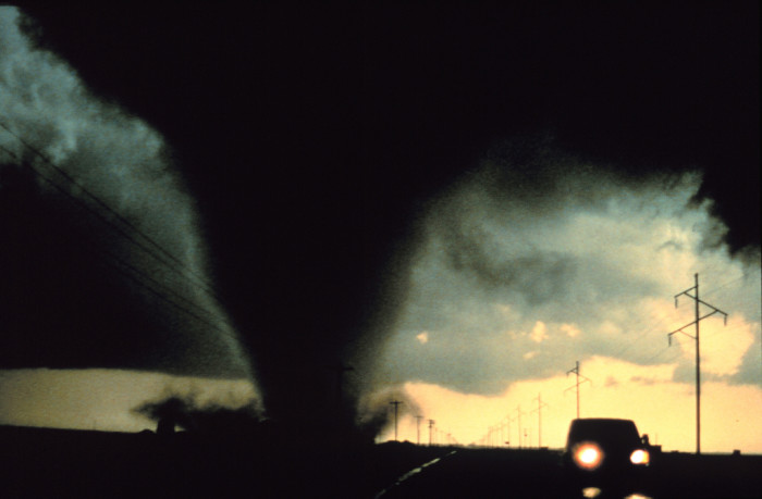3) Tornadoes