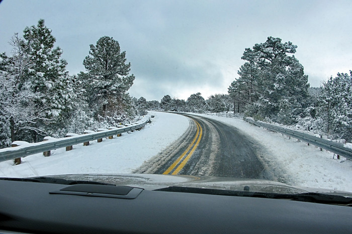 5. Another side effect from all that sunshine? A large chunk of Arizonans forget how to drive on an average rainy or snowy day.