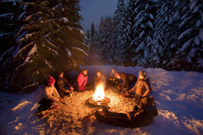 5. Snowy campfires…
