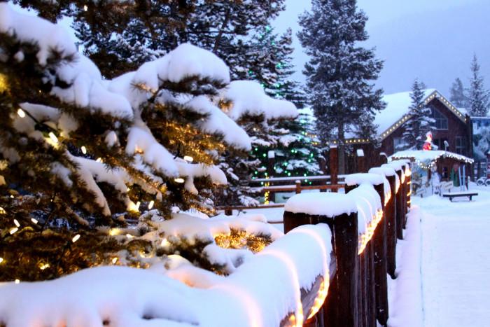 7. Christmas lights in Keystone