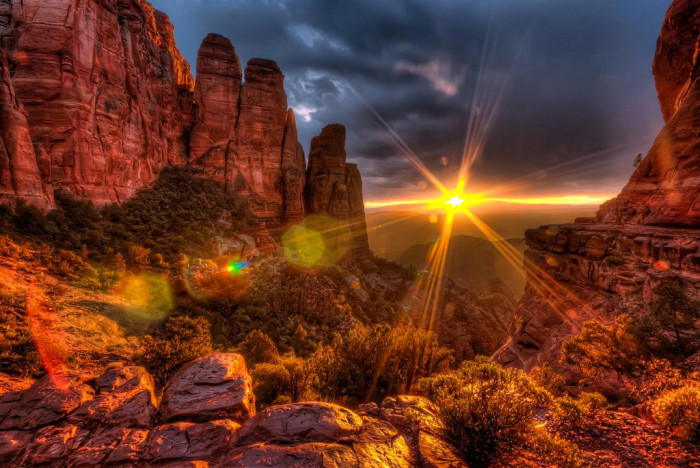 9. Arizona can also be defined by our colorful rocks, like the red ones...