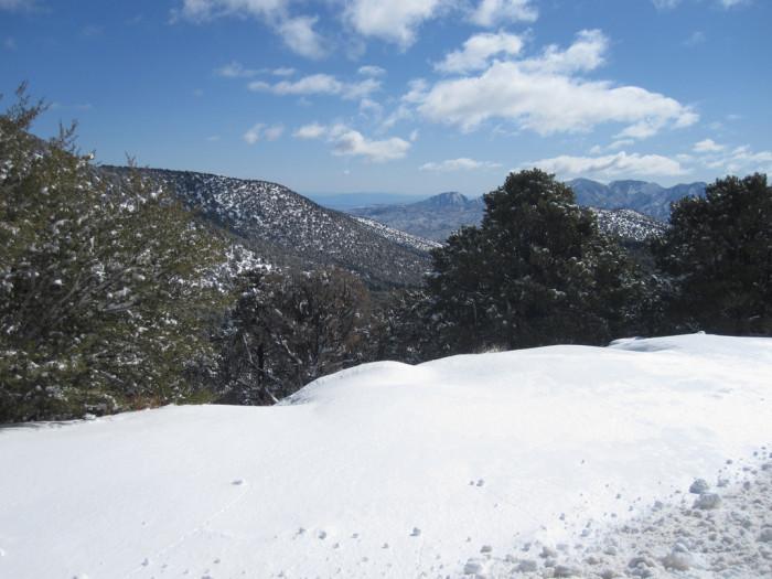 1. This beautiful snowbank was captured in Las Vegas.