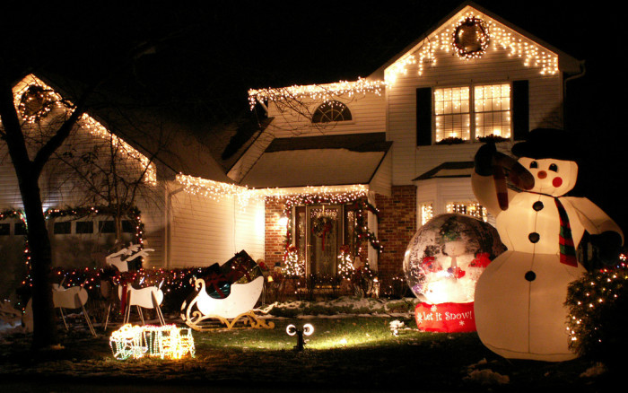 6. Decorating for Christmas.