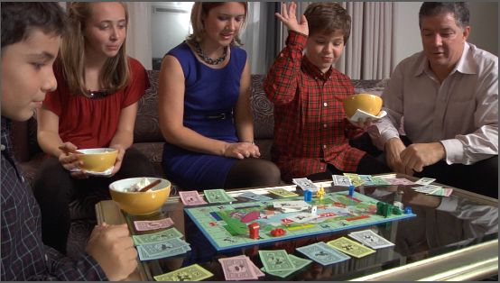 9. We played board games on actual boards.