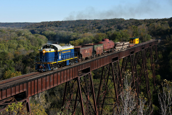 7. The breaktaking Des Moines River Valley from the Boone & Scenic Valley Railway.