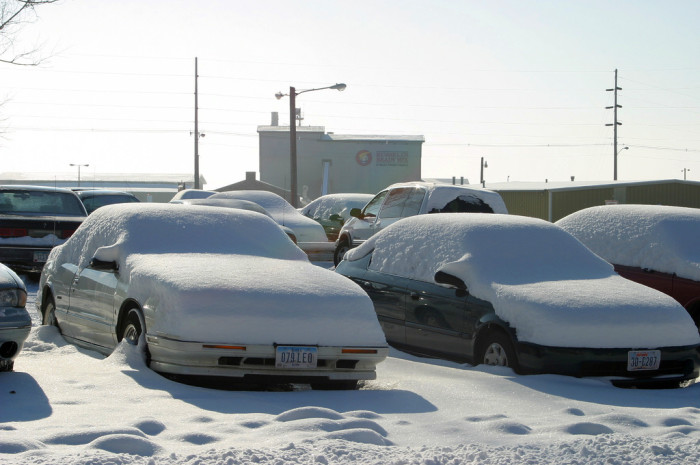 7. Having to get into a freezing cold car every morning.