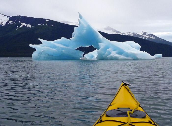 7) Winter kayaking.