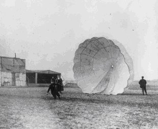 7.	The first successful parachute jump to be made from a moving airplane was made by Captain Berry at St. Louis, in 1912.