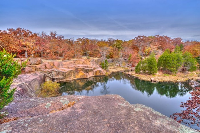 """8.Ken Trudeau submitted this photo, and says, """"This time of year, patience is needed for the next parking spot at Elephant Rock State Park. The Park is loved by many Missourians."""""""