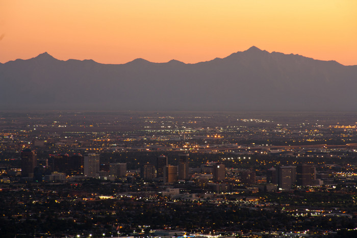 1. Compared to a lot of other populous areas, Arizona's cities and roads are actually really clean. We have cleaner air, less litter and lower crime.