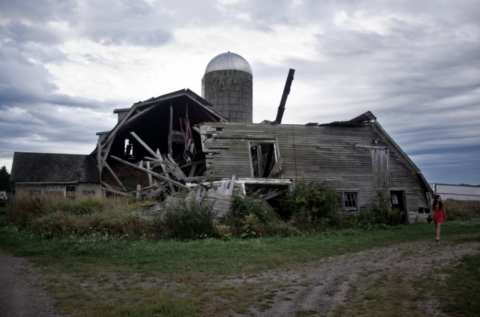 5. Abandoned barns are a dime a dozen here in Maine. You can't drive a few miles down a country road without seeing some dilapidated, weatherbeaten structure slumping into itself.