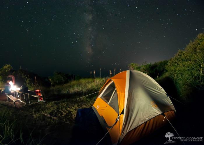 12. And pitch a tent beneath the Milky Way.