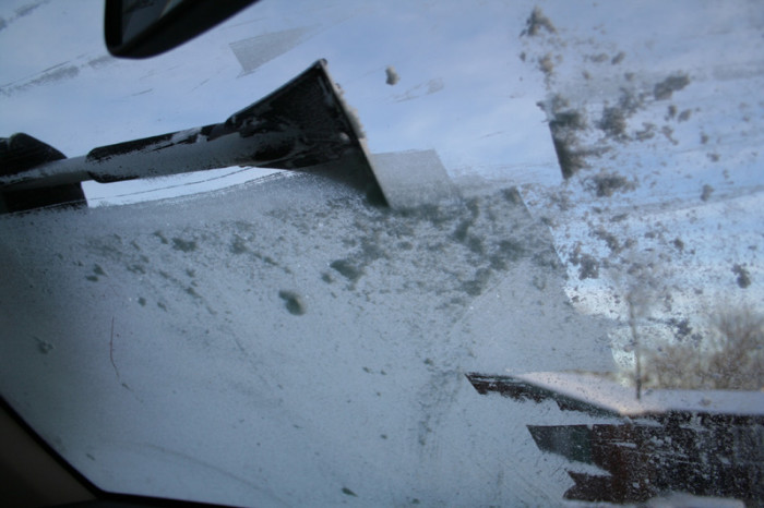 8. Or having to scrape layers of ice off your car every morning.