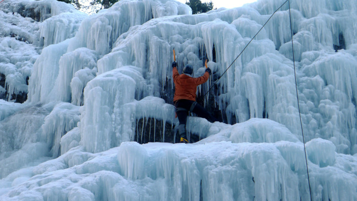 10. Ice climb in Ouray.