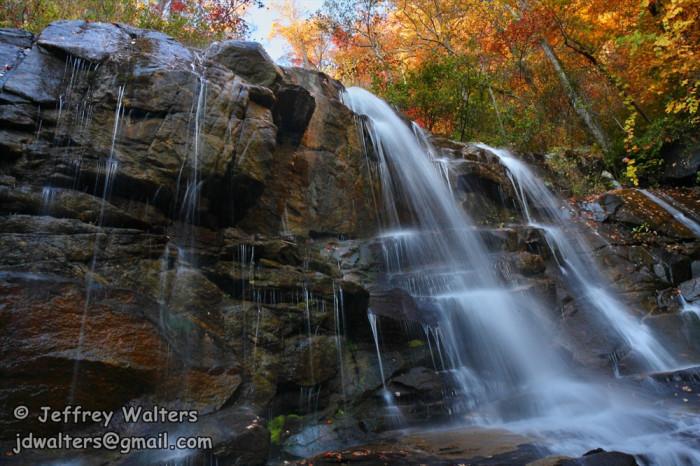 the gorgeous waterfalls.