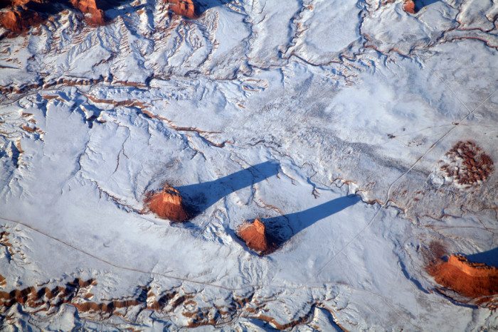 10. Even from above, winter in Arizona looks simply amazing.