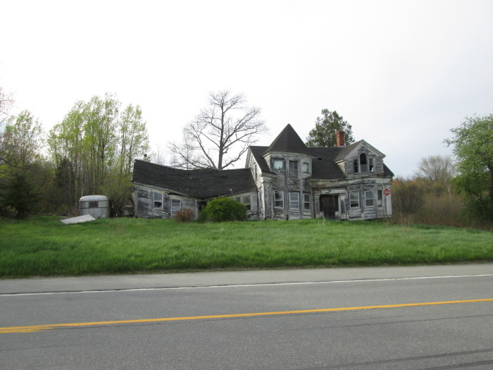 3. North of Camden, on the road to Belfast, lives this almost Seussian wreck of a home.