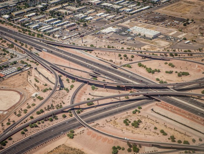 2. Say what you will about the state of our infrastructure; the grid road plan and freeway systems we have throughout the state make navigating towns so much easier.