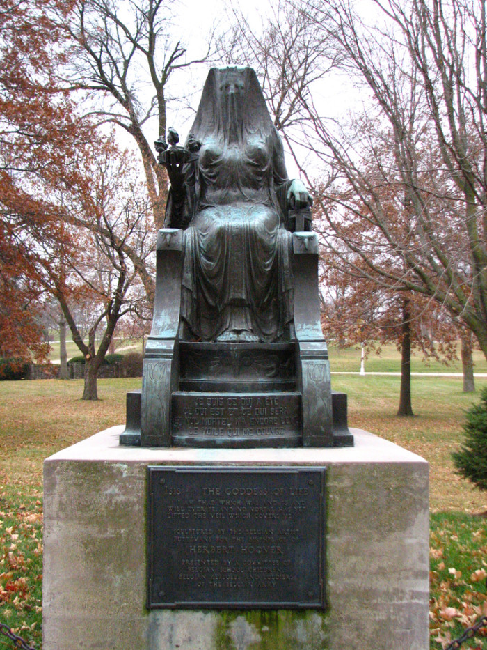 8. Herbert Hoover's Goddess of Life Statue, West Branch