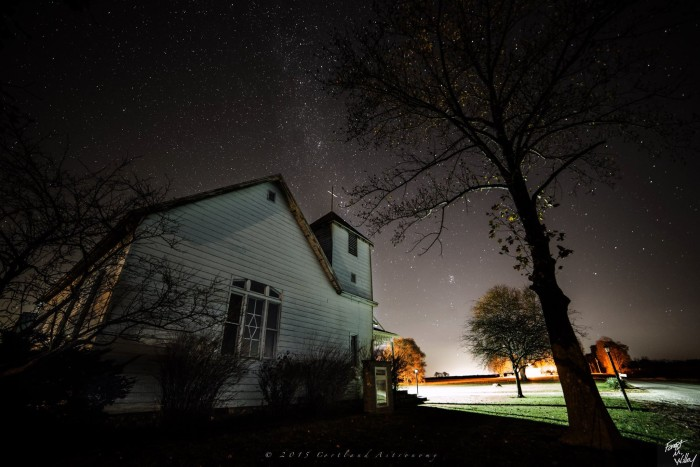 18. Cortland Astronomy also shared a pretty incredible shot of the Milky Way over a Honeytown Christian Church. So pretty!