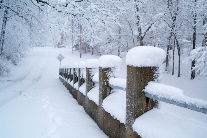 9. And the peaceful, snowy afternoons.