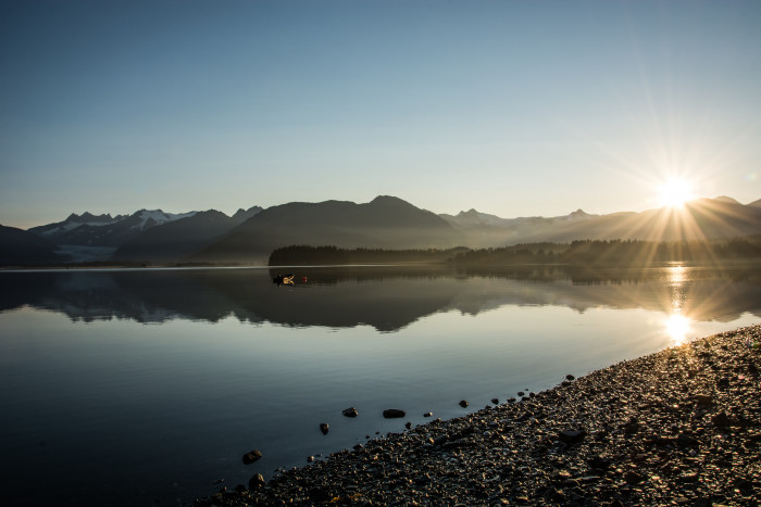 10) Douglas Island offers a great view of the sunrise over Mendenhall Glacier!
