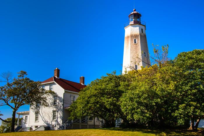 3. The historic Sandy Hook Lighthouse.