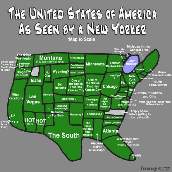 5. How a New Yorker sees the United States: