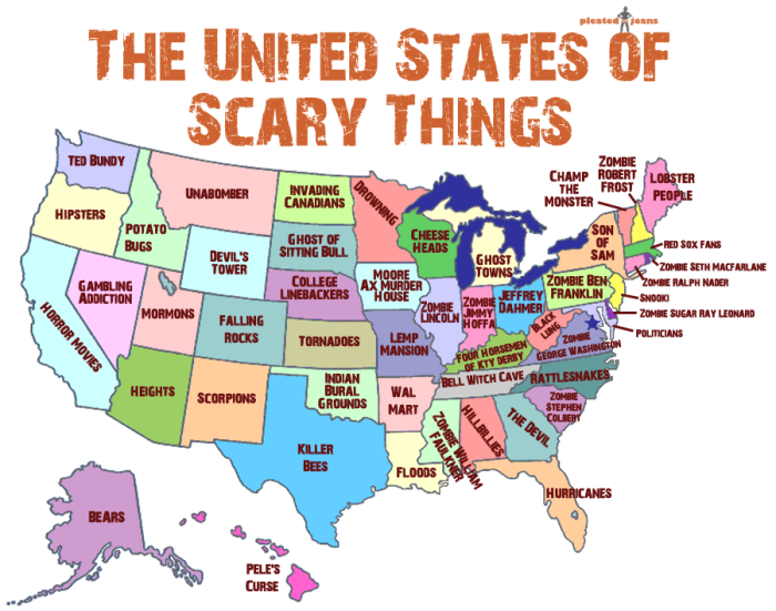 1 the scariest things in each state